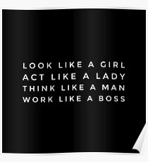 LIKE A BOSS GIRL stickers Poster