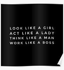 LIKE A BOSS GIRL  Poster