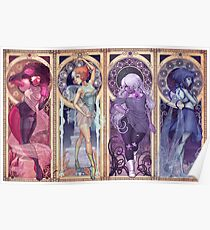 Art Nouveau Gems Poster