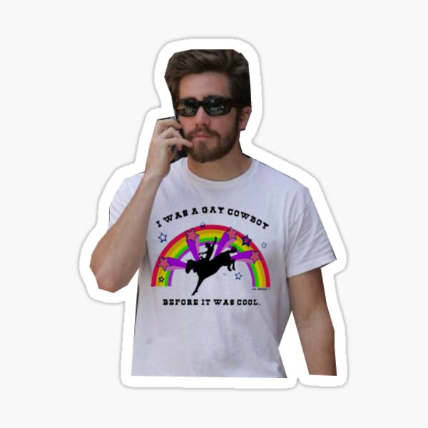 jake gyllenhaal gay cowboy shirt Sticker