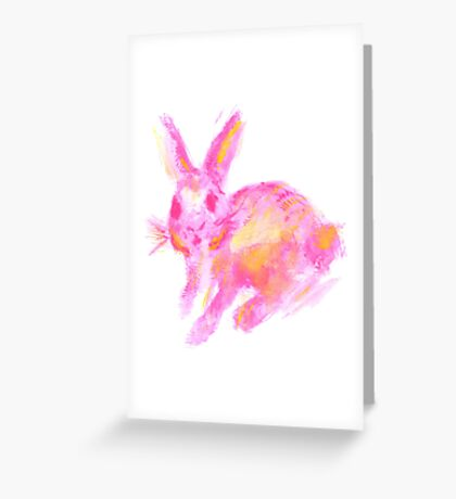 Flossy Bunny Greeting Card