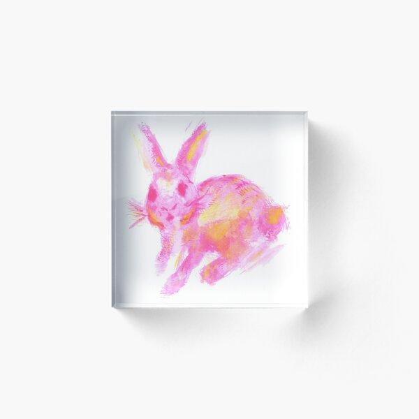 Flossy Bunny Acrylic Block