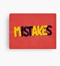 Make mistakes Canvas Print