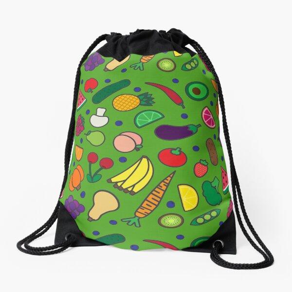 Fruits and Veggies! Drawstring Bag