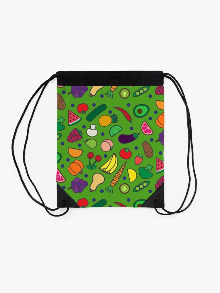 Alternate view of Fruits and Veggies! Drawstring Bag