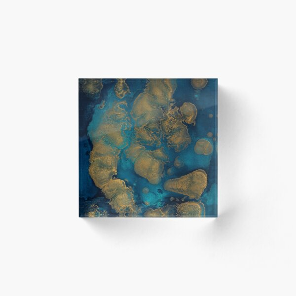Islands Abstracted Acrylic Block