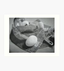 Three Eggs and A Ladle Art Print