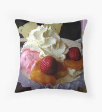 Ice Cream and Fruit Throw Pillow