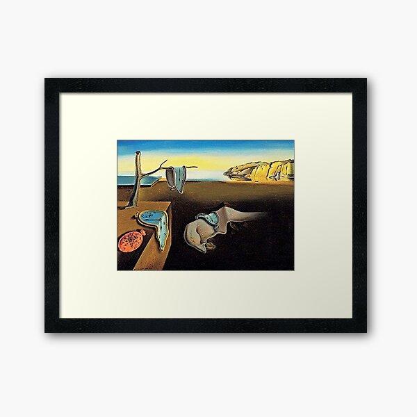 DALI, Salvador Dali, The Persistence of Memory, 1931. Framed Art Print