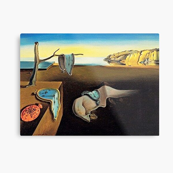 DALI, Salvador Dali, The Persistence of Memory, 1931. Metal Print
