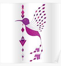 Vintage ethnic tribal aztec bird Poster