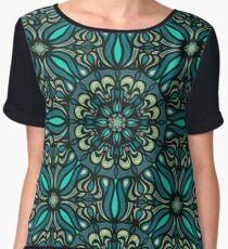 Colorful abstract ethnic floral mandala pattern design Chiffon Top