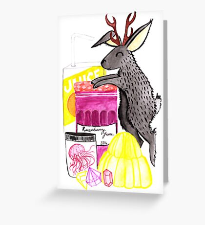 J is for Jackalope Greeting Card