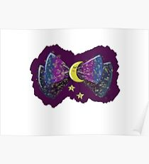 Lolita Galaxy Moon Bow Poster