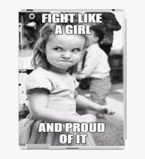 Fighting Like A Girl iPad Case/Skin