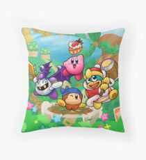 Kirby's Return to Dream Land Throw Pillow