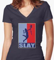 Slay! Women's Fitted V-Neck T-Shirt