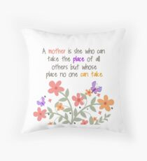 A Mother Is... Throw Pillow