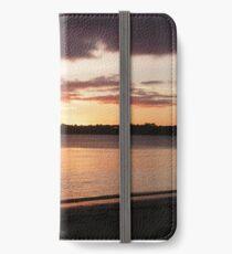 Orange Sunrise on Roscoff 2 iPhone Wallet/Case/Skin