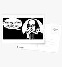 I Bite My Thumb At You, Sir Postcards