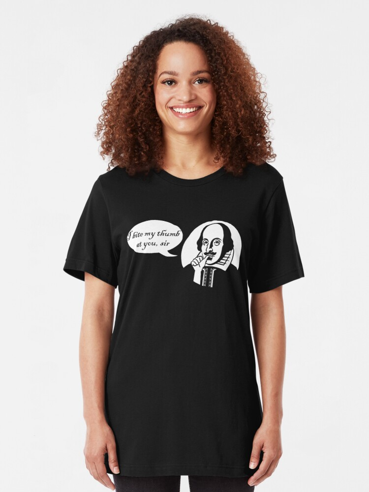 Alternate view of I Bite My Thumb At You, Sir Slim Fit T-Shirt