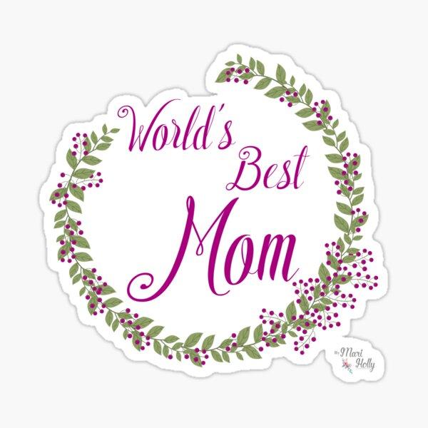 World's Best Mom Pegatina