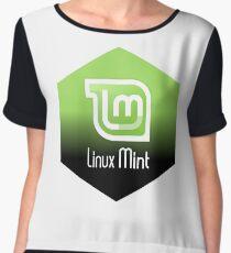 linux mint hexagonal Chiffon Top