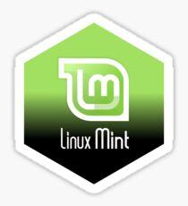 linux mint hexagonal Sticker