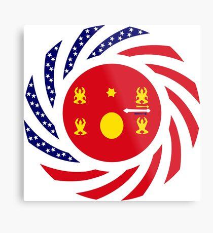 Hmong American Multinational Patriot Flag Series 1.0 Metal Print