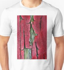 Peeling Paint Abstract Vertical T-Shirt