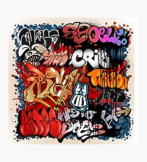 Graffiti Trash Photographic Print