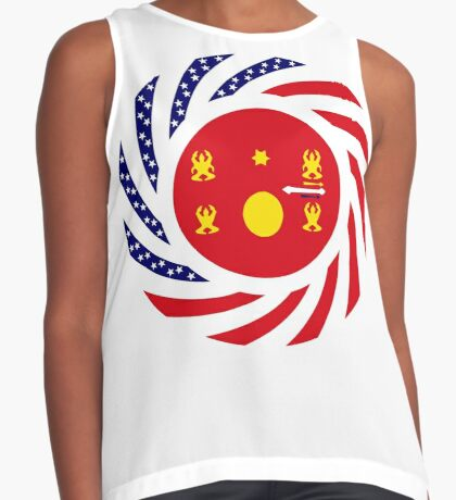 Hmong American Multinational Patriot Flag Series 1.0 Sleeveless Top