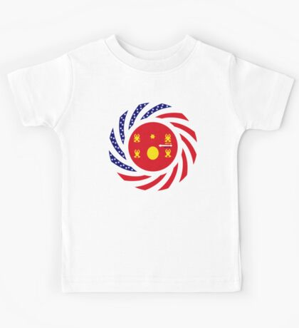 Hmong American Multinational Patriot Flag Series 1.0 Kids Clothes