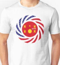 Hmong American Multinational Patriot Flag Series 1.0 Slim Fit T-Shirt