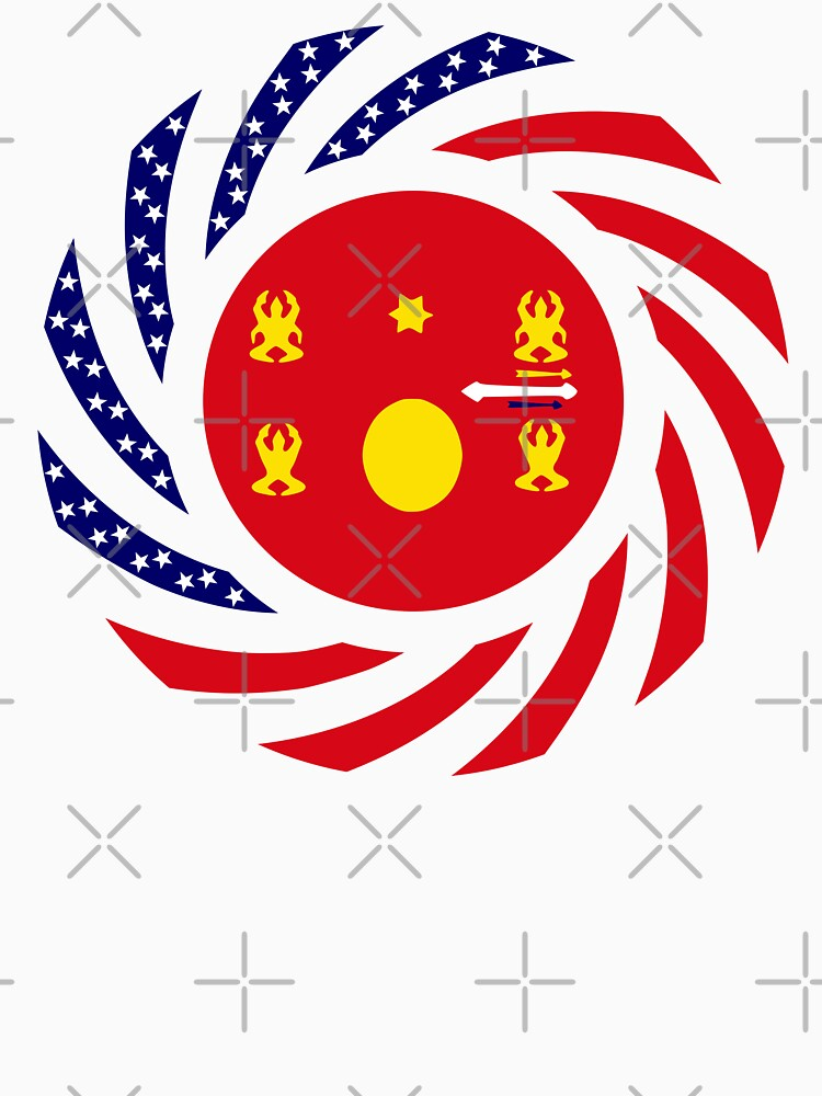 Hmong American Multinational Patriot Flag Series 1.0 by carbonfibreme