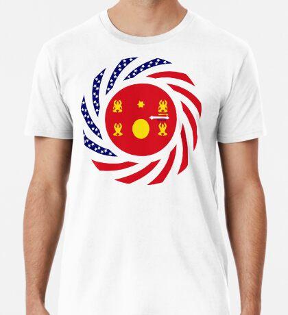 Hmong American Multinational Patriot Flag Series 1.0 Premium T-Shirt