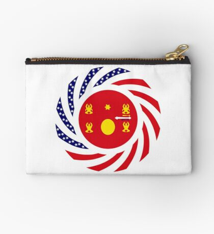Hmong American Multinational Patriot Flag Series 1.0 Zipper Pouch