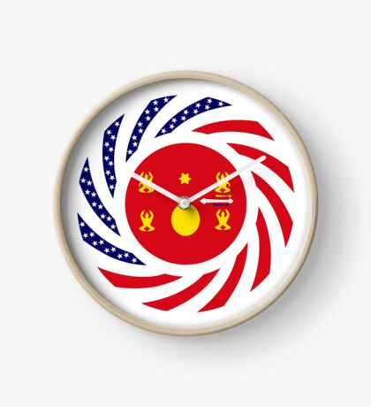 Hmong American Multinational Patriot Flag Series 1.0 Clock