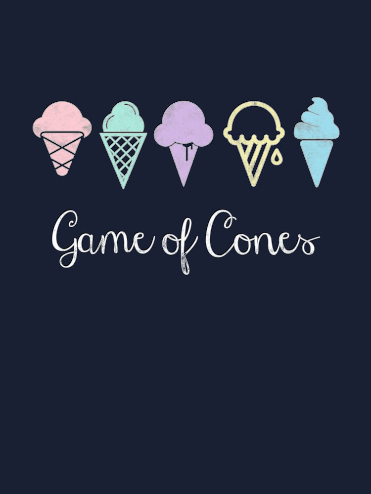 Game Of Cones Kids T Shirt By Bubbliciousart Redbubble