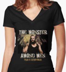 The Monster Among Men Braun Strowman Women's Fitted V-Neck T-Shirt