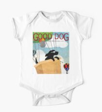Good Dog Hot Air Balloon Festival dogs in flight One Piece - Short Sleeve