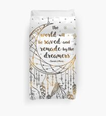 The world will be saved Duvet Cover