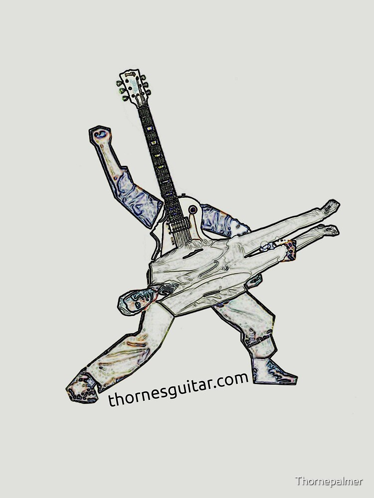Power stance Guitar God Playing Human by Thornepalmer