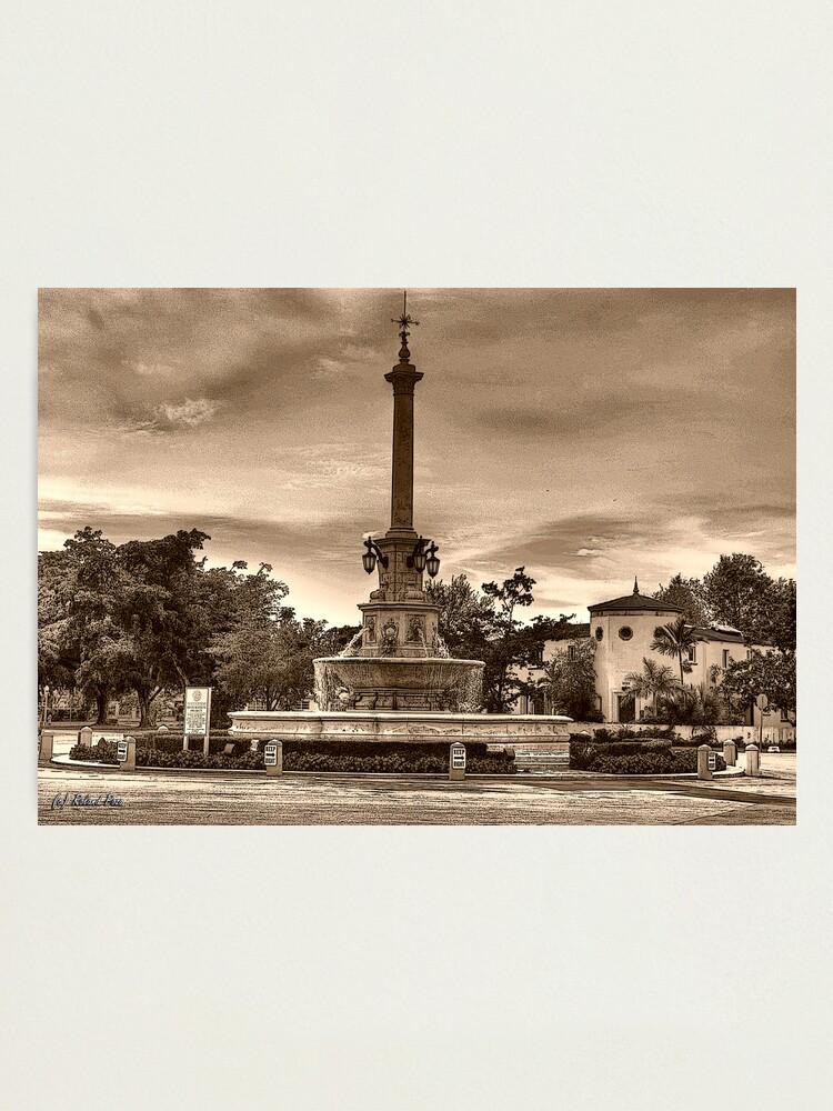 Alternate view of DeSoto Fountain Photographic Print