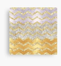 Fun with gold, glitter and glam Canvas Print