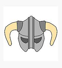 Colored Skyrim Helmet Photographic Print