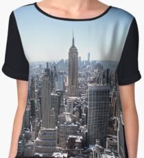 A view from the Rockefeller Building, NYC Chiffon Top