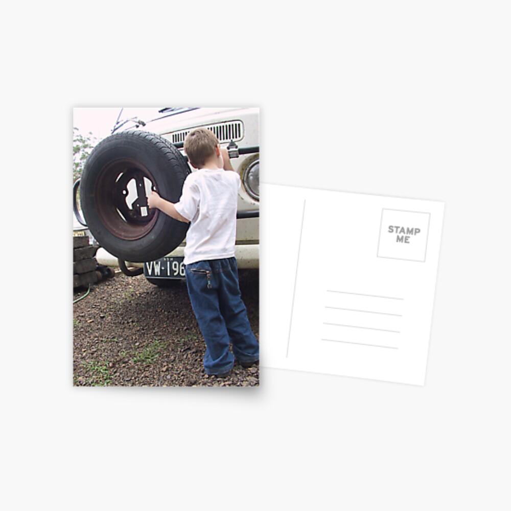 Kombi Kid Postkarte