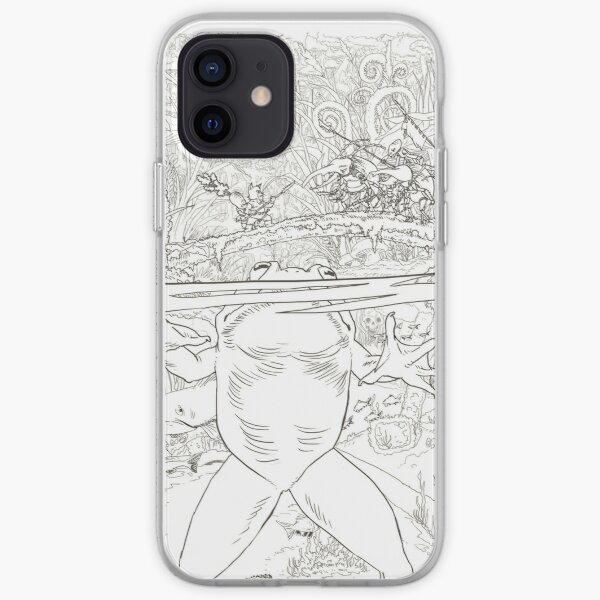 The dinner of the frog iPhone Soft Case