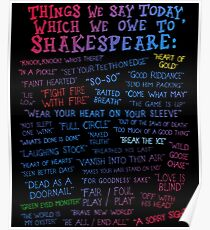 Shakespeare Quotes Poster
